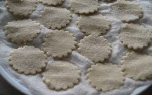 Cream Wafers - dipped in granulated sugar