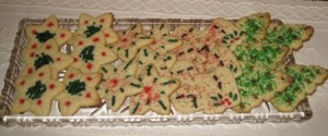 Platter of sugar cookies