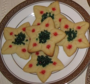 Sugar cookies - stars 1