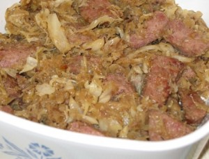Kobasie with Kraut (Bigos)