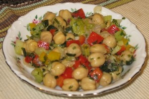 Chickpeas Vinaigrette – Vegetarian/Vegan Recipe