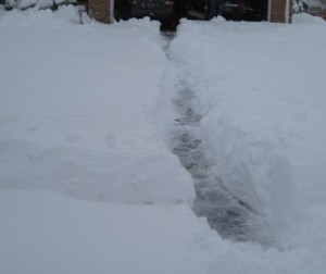 Now we have a path from the garage to the street