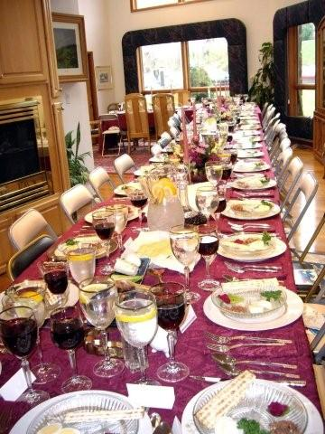 passover table setting 1