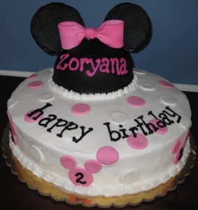 The Minni Mouse Birthday Cake