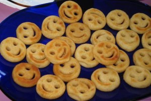 Potato smiley faces