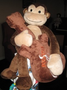 Diaper cake -  cake topper - Rock'n Monkey