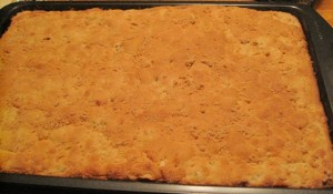 Apple sheet cake - baked