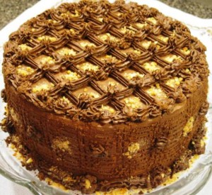 Caramel Chocolate cake 010