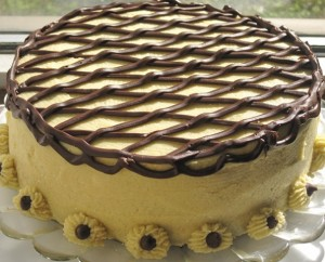 Caramel Irish Cream Cake