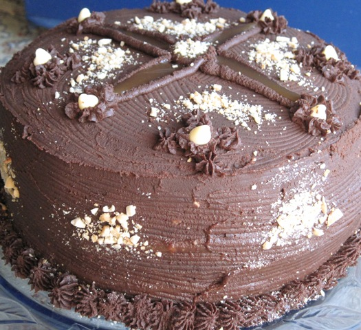 Chocolate Cake With Fleur De Sel Caramel Filling Recipe ...