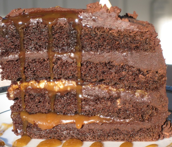 Chocolate cake with Fleur De Sel Caramel Filling- serving piece 2