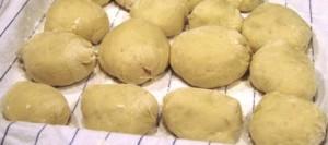 Filled dumplings doubled in bulk