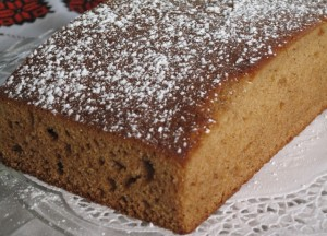 Honey Sheet Cake - original and plain with powdered sugar
