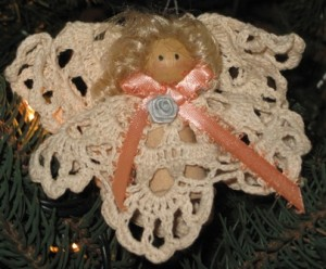 crochet doily angel 2