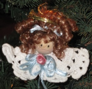 crochet doily angel