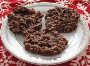No  bake chocolate oatmeal  cookies c