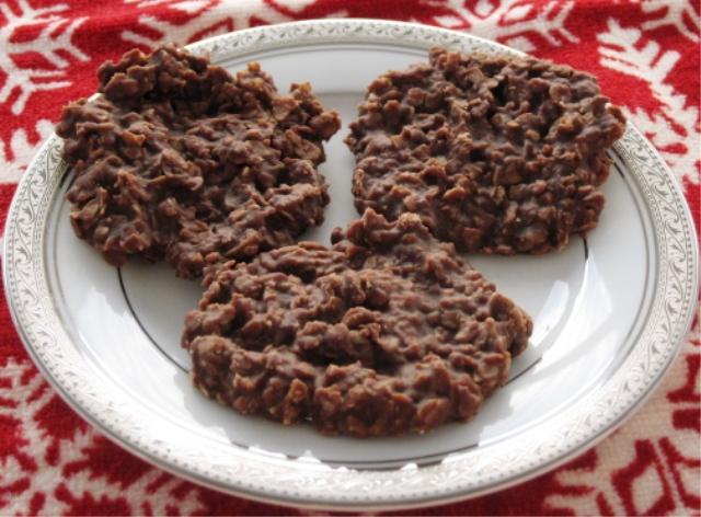 No bake chocolate oatmeal cookies c