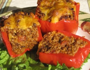 Bulgur stuffed peppers - serving