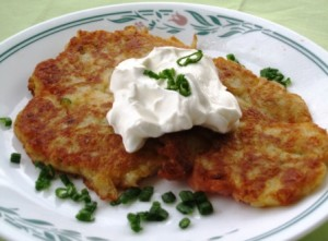 Irish Potato Pancakes - served with sour cream