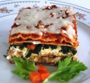 Vegetarian Matzoh Lasagna