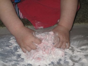 Making playdough - 5