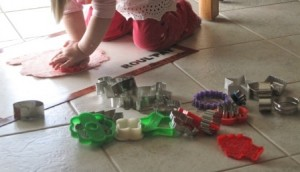 Making playdough - cutting out shapes 3