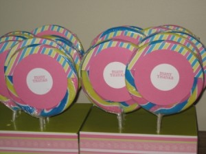 Giant Lollypops - Thank You favors