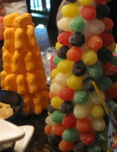 Gumdrop and Peanut Tree decorations
