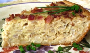 Onion Quiche - serving piece