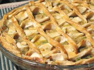 Homemade Chicken Pot Pie - baked
