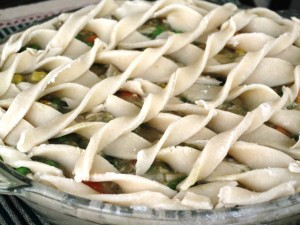 Homemade Chicken Pot Pie- close up
