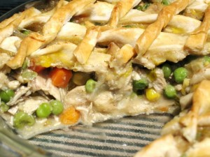 Homemade Chicken Pot Pie - serving
