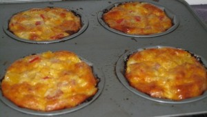 Breakfast Minni Quiches - just baked