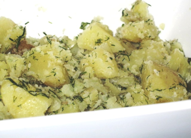 New Potatoes with butter and dill