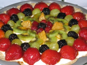 Summer Fruit Tarte - close up view