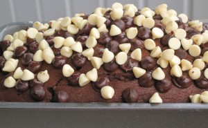 Dark and White Chocolate morsels topping