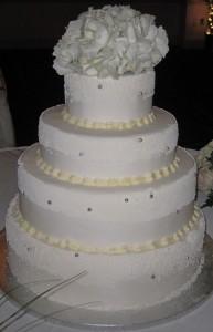 A - R Wedding Cake