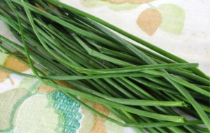 Chives greens