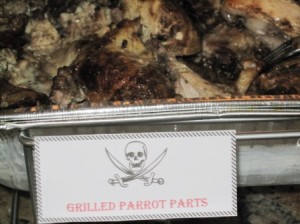 Grilled Parrot Parts