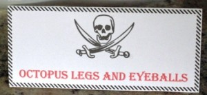 Octopus Legs eyeballs - sign