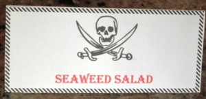 Seaweed Salad - sign