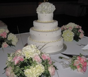 Wedding Cake display table