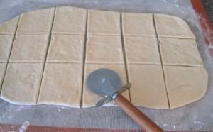 Pre-cut dough