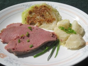 St. Patrick's Day - Corn beef and cabbage dinner