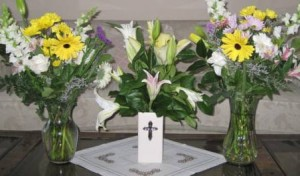 commemorative tribute - special flowers