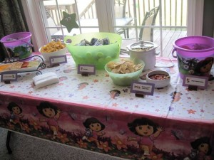 Birthday Fun Food and Snack table