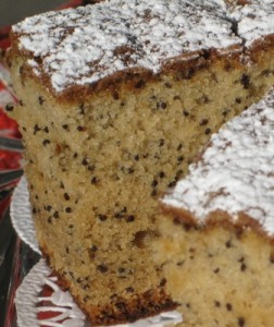 Fancy Poppy-Seed-Cake- close up