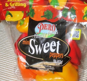 Package of sweet peppers