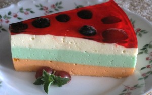 Jello Cheesecake - serving
