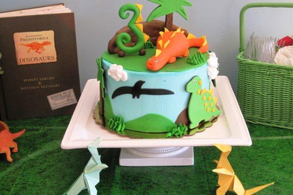 Magnificent Dinosaur Birthday Cake Personalised Birthday Cards Paralily Jamesorg